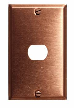 <PRE>Switchplate Brushed Solid Copper Single Interchangeable</PRE>