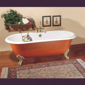 Primed black cast iron clawfoot tub feet not included fits two for Porcelain bathtubs for sale