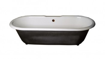 <PRE>Primed Black Cast Iron Clawfoot Tub FEET NOT INCLUDED Fits Two </PRE>