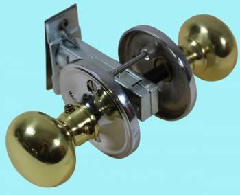Privacy Door Knob Set Solid Brass Colonial 2 38 Door Hardware Lockset Door Knob