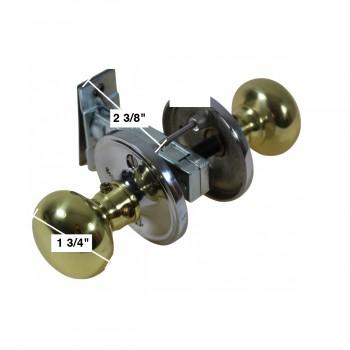 spec-<PRE>Privacy Door Knob Set Solid Brass Colonial 2 3/8&quot; </PRE>