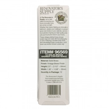<PRE>Solid Brass Shower Curtain Hook Ring 12 In Set </PRE>