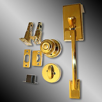Door Locks Solid Brass Entrance Set 12.25L x 2 38 Backset Door Locks Door Knobs Locking Knob Set