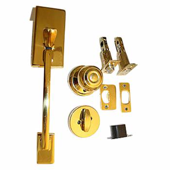 Door Locks Solid Brass Entrance Set 12.25