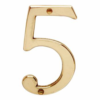 <PRE>Bright Solid Brass 3 7/8inch Address House Number '5' | Renovator Supply</PRE>zoom1
