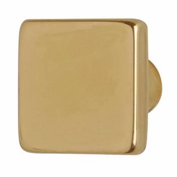 Square Cabinet Knob Brass
