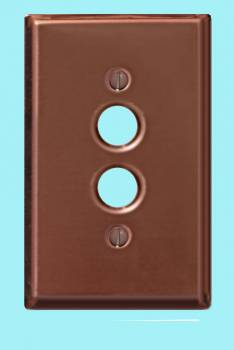 <PRE>Switchplate Bright Solid Copper Single Pushbutton </PRE>zoom2