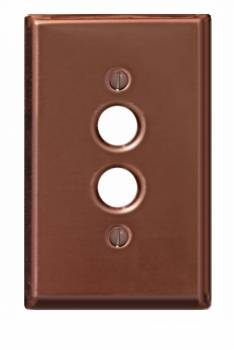 Switchplate Bright Solid Copper Single Pushbutton 96715grid