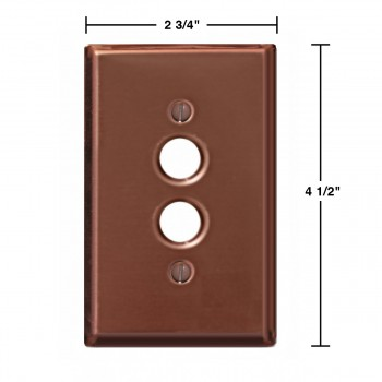 spec-<PRE>Switchplate Bright Solid Copper Single Pushbutton </PRE>