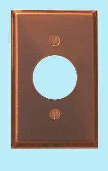 <PRE>Switchplate Bright Solid Copper Single Receptacle </PRE>zoom2