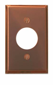 <PRE>Switchplate Bright Solid Copper Single Receptacle </PRE>zoom1