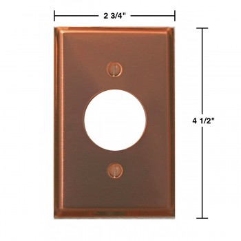 spec-<PRE>Switchplate Bright Solid Copper Single Receptacle </PRE>