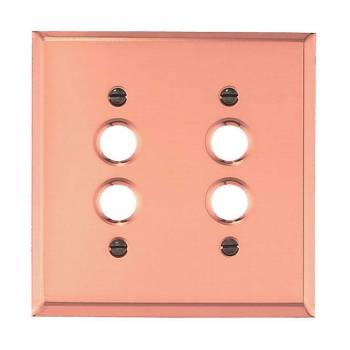 Switchplate Bright Solid Copper Double Pushbutton 96718grid