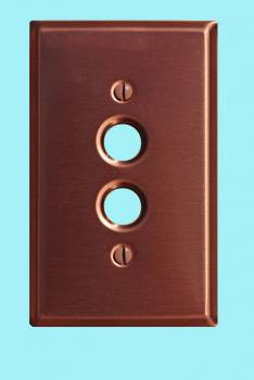 <PRE>Switchplate Brushed Solid Copper Single Pushbutton </PRE>