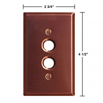 spec-<PRE>Switchplate Brushed Solid Copper Single Pushbutton </PRE>