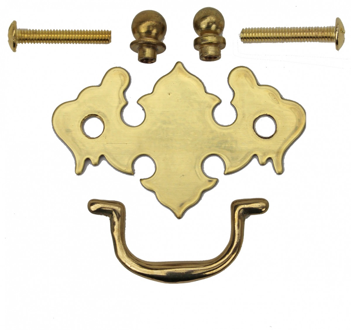 Chippendale Bail Pull Bright Solid Brass 2 78 Furniture Hardware Cabinet Pull Cabinet Hardware