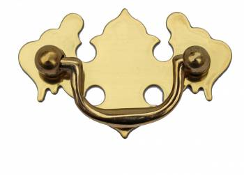 Chippendale Bail Pull Bright Solid Brass 2 78