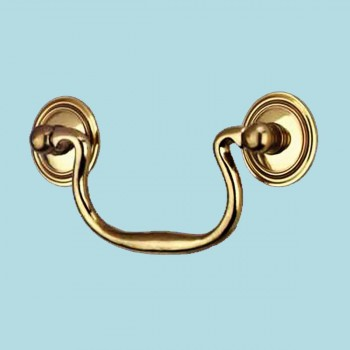 Bright Solid Brass Classic Bail Pull 3 34 Boring Brass Pulls Cabinet Pull Cabinet Hardware
