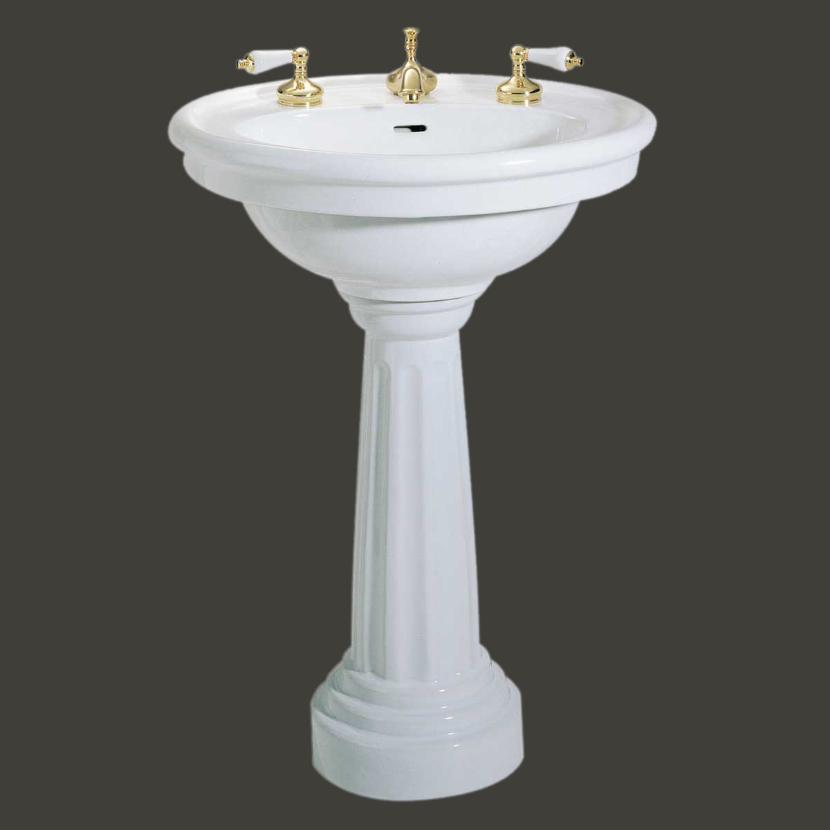 standing pedestal sink white china 8 widespread bathroom fixture. Black Bedroom Furniture Sets. Home Design Ideas