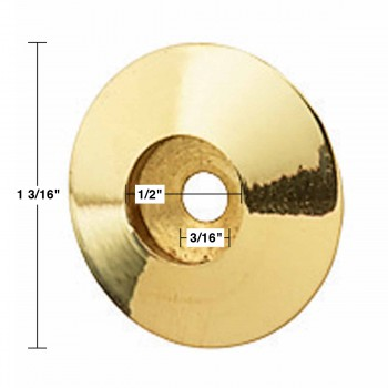 "spec-<PRE>Bright Solid Brass Cabinet Knob Rosette Backplates 1 1/4"" </PRE>"