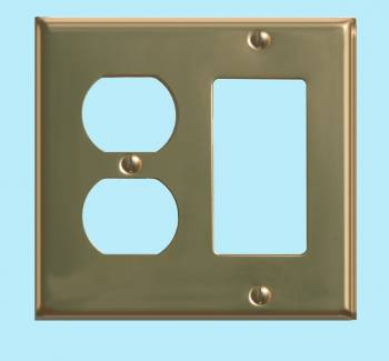 <PRE>Switchplate Solid Brass GFI Outlet </PRE>zoom2