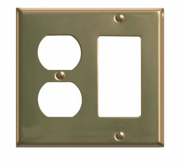 Classic Bright Brass Series GFI Outlet Switchplate