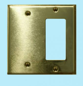 <PRE>Switchplate Solid Brass GFI Blank </PRE>zoom2