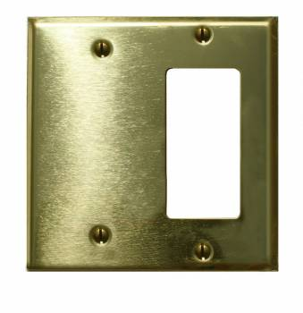 <PRE>Switchplate Solid Brass GFI Blank </PRE>zoom1