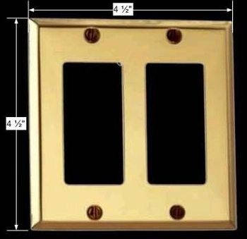 spec-<PRE>Switchplate Bright Solid Brass Double GFI </PRE>
