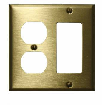 <PRE>Switchplate Brushed Solid Brass Outlet GFI </PRE>zoom1