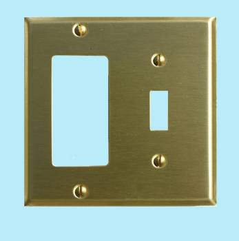Switchplate Brushed Brass GFI Toggle Switch Plate Wall Plates Switch Plates