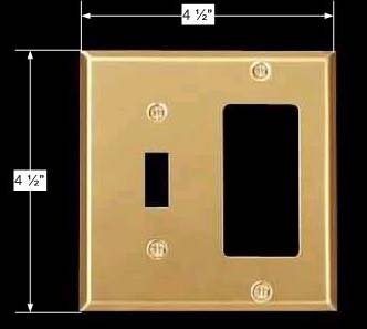 spec-<PRE>Switchplate Brushed Brass GFI Toggle </PRE>