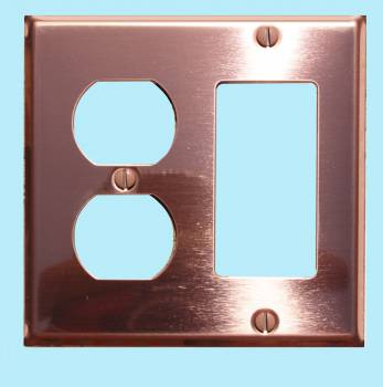 <PRE>Switchplate Bright Solid Copper GFI Outlet </PRE>zoom2
