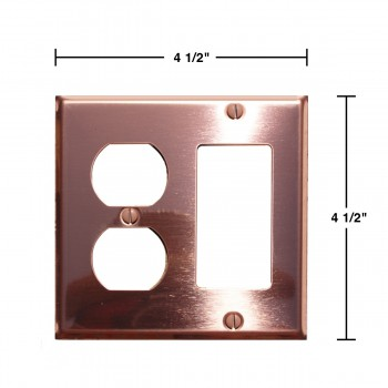 spec-<PRE>Switchplate Bright Solid Copper GFI Outlet </PRE>