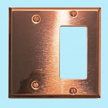 Switchplate Bright Solid Copper GFIBlank Switch Plate Wall Plates Switch Plates