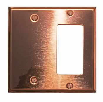 Switchplate Bright Solid Copper GFI/Blank 96981grid