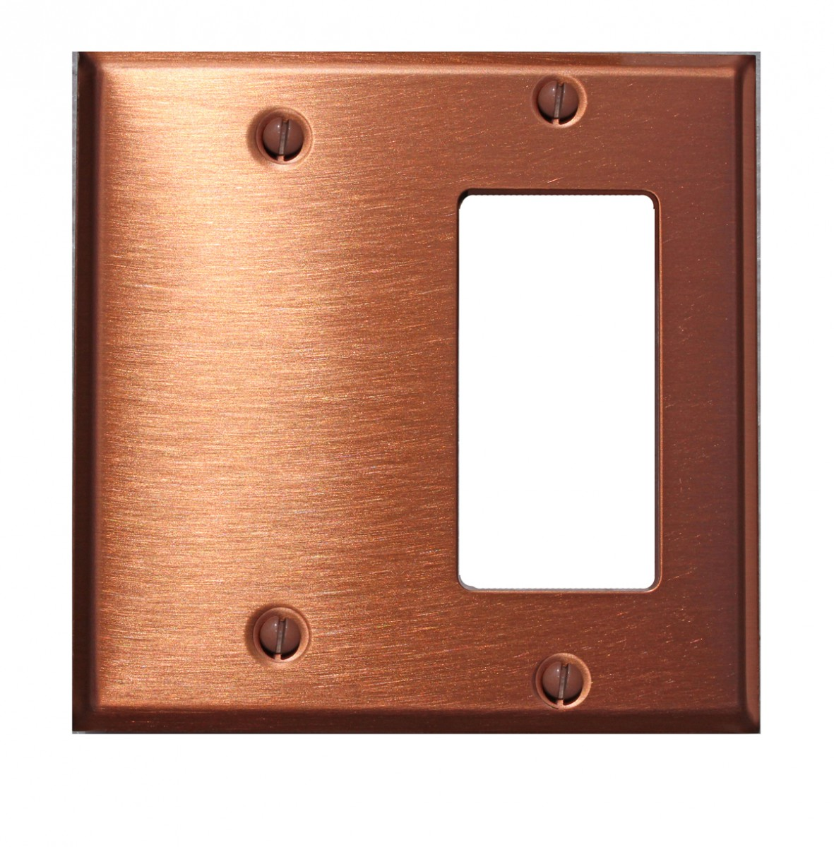 Switchplate Brushed Solid Copper Gfi Blank