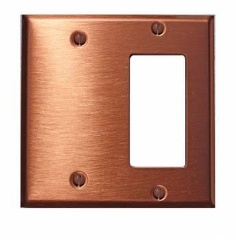 <PRE>Switchplate Brushed Solid Copper GFI Blank </PRE>zoom1