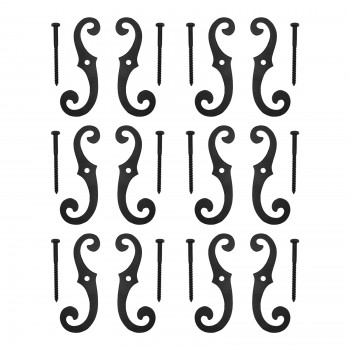 "<PRE>6 Cast Iron Window Shutter Dogs 6-1/2inch H x 2-1/4"" W </PRE>zoom1"