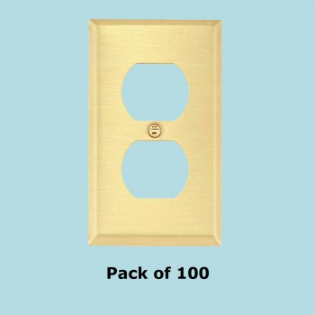 <PRE>100 Switch Plate Brushed Brass Single Outlet </PRE>zoom2