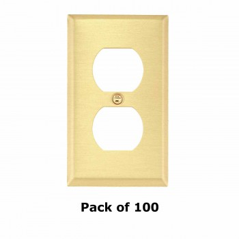 <PRE>100 Switch Plate Brushed Brass Single Outlet </PRE>zoom1