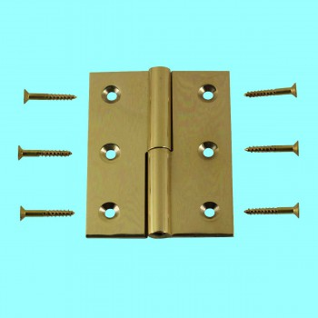 "<PRE>Cabinet Hinge Solid Brass Square LOR 2inch x 2.5"" </PRE>zoom2"
