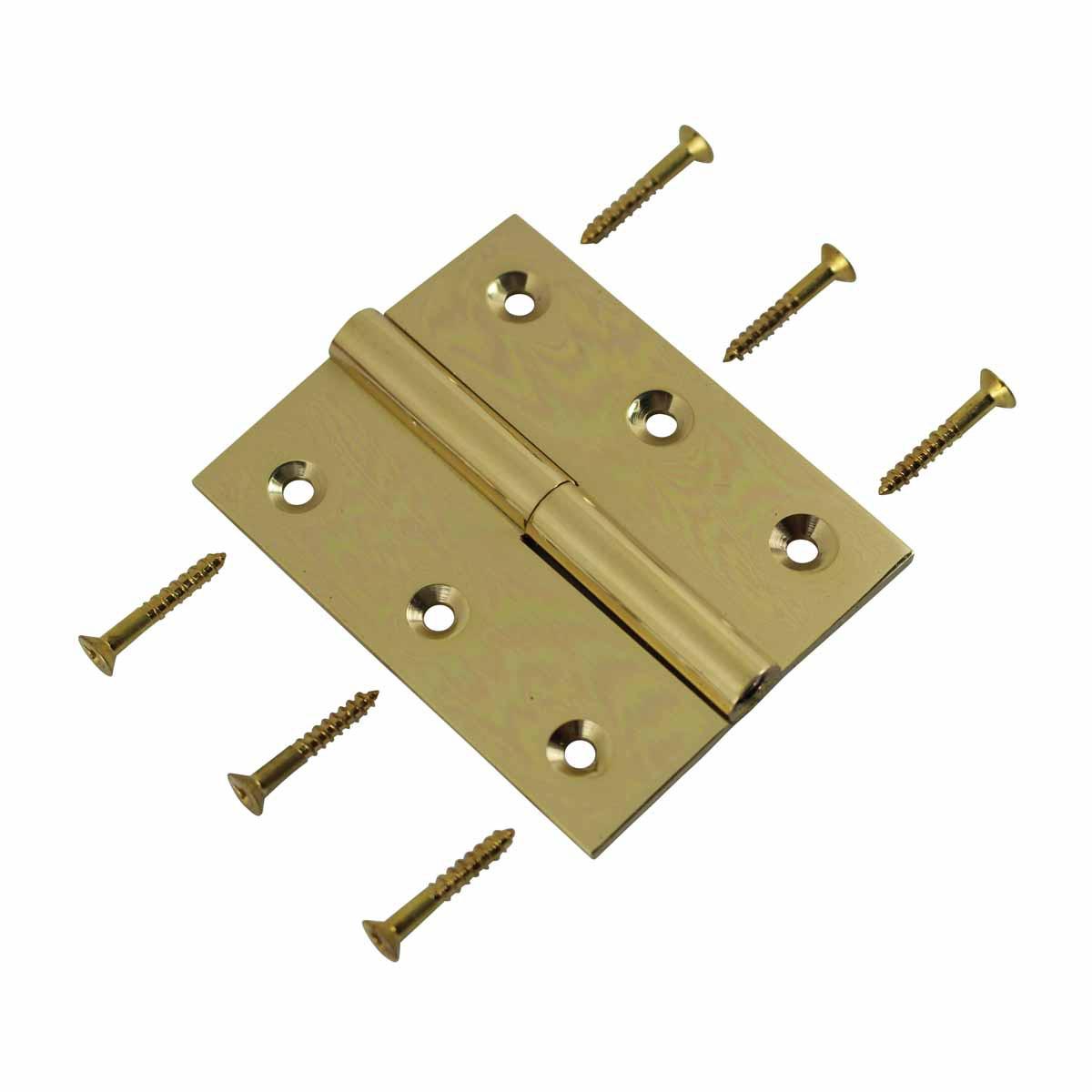 Cabinet Hinge Solid Brass Square LOR 2 x 2.5 Door Hinges Door Hinge Solid Brass Hinge