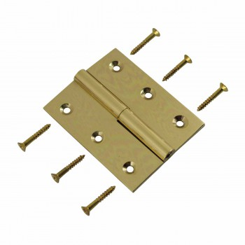 "<PRE>Cabinet Hinge Solid Brass Square LOR 2inch x 2.5"" </PRE>zoom3"
