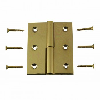 "<PRE>Cabinet Hinge Solid Brass Square LOR 2inch x 2.5"" </PRE>zoom1"