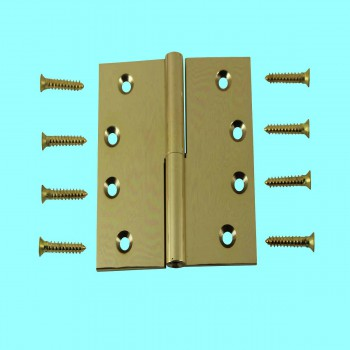 <PRE>4inch Lift Off Right Brass Door Hinge No Finial </PRE>zoom2
