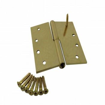 <PRE>4inch Lift Off Right Brass Door Hinge No Finial </PRE>zoom4