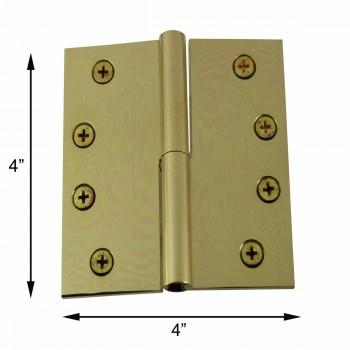 spec-<PRE>4&quot; Lift Off Right Brass Door Hinge No Finial </PRE>