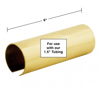 "spec-<PRE>Tubing Connector Polished Brass Coupler Fit 1.5"" Tube </PRE>"
