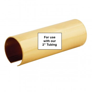 "spec-<PRE>2"" Polished Brass Tubing Coupler Connector </PRE>"